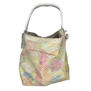 INNUE Women's Italian Leather Pastel Laser-Cut Bag